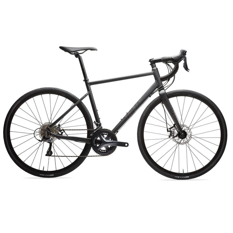 cycle touring road bike rc500 disc brake black