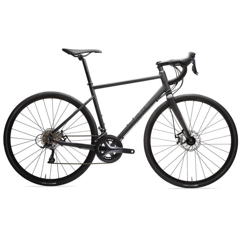 Triban RC 500 Disc Road Bike, Black - Sora