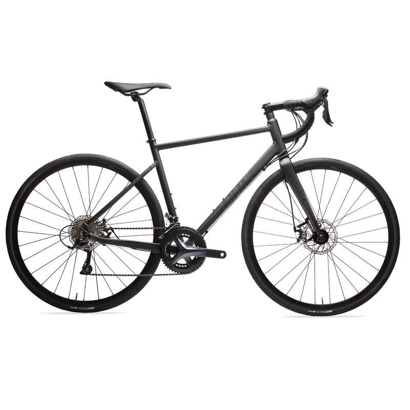 SILNIČNÍ KOLA NA CYKLOTURISTIKU Cyklistika - SILNIČNÍ KOLO RC500 ČERNÉ  TRIBAN - Jízdní kola