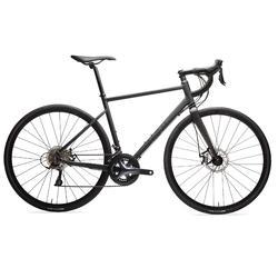 Racefiets voor wielertoerisme Triban RC 500 zwart (schrijfremmen)