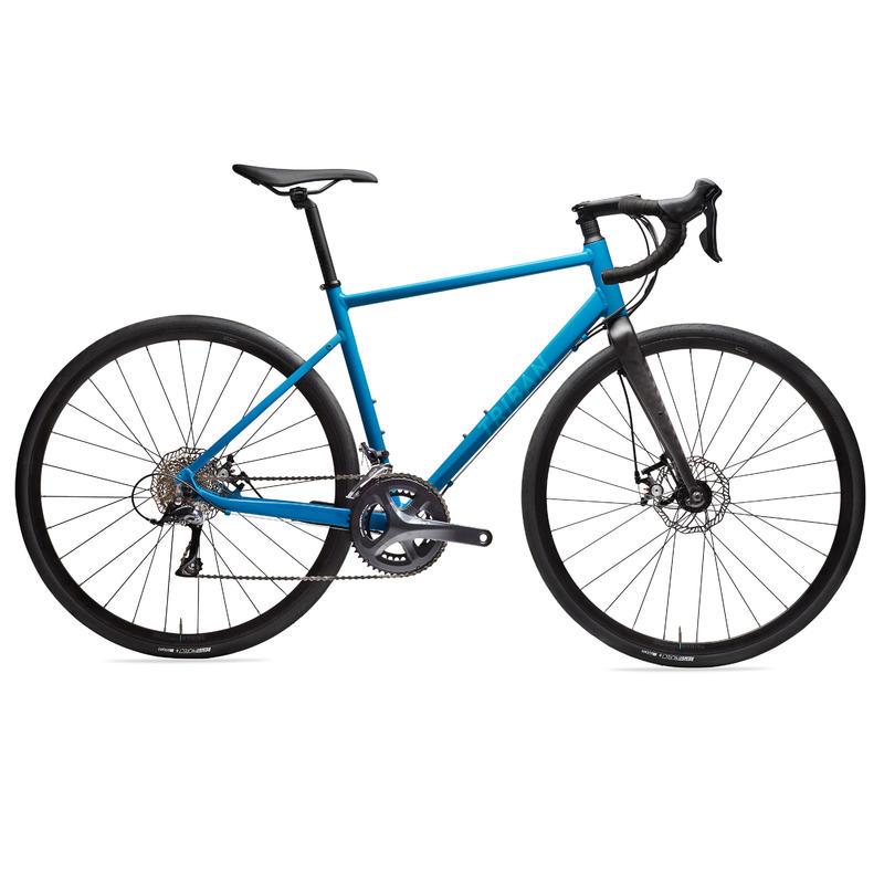 Silniční kolo RC500 na cykloturistiku s kotoučovými brzdami modré