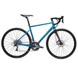 Racefiets voor wielertoerisme Triban RC 500 blauw (schijfremmen)