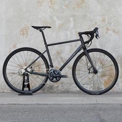Rennrad Triban RC 500 schwarz (mit Scheibenbremsen)
