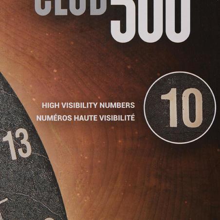Cible de fléchettes traditionnelle Club 500