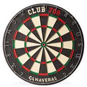 Dartboard Club 700 Traditional - Black/Red
