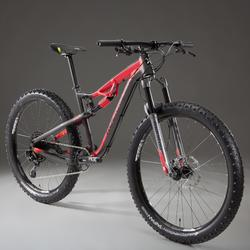 "Mountainbike XC 100 S 27,5"" Plus MTB schwarz/rot"