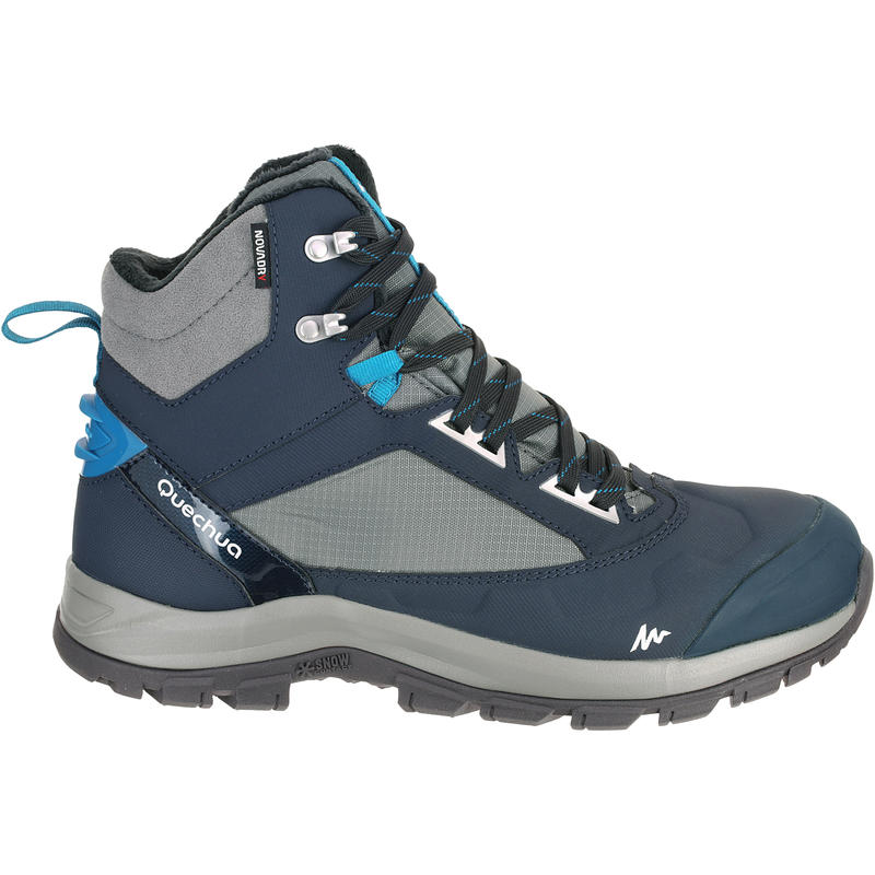 Forclaz 500 Warm Waterproof Men's Hiking Boots - Blue