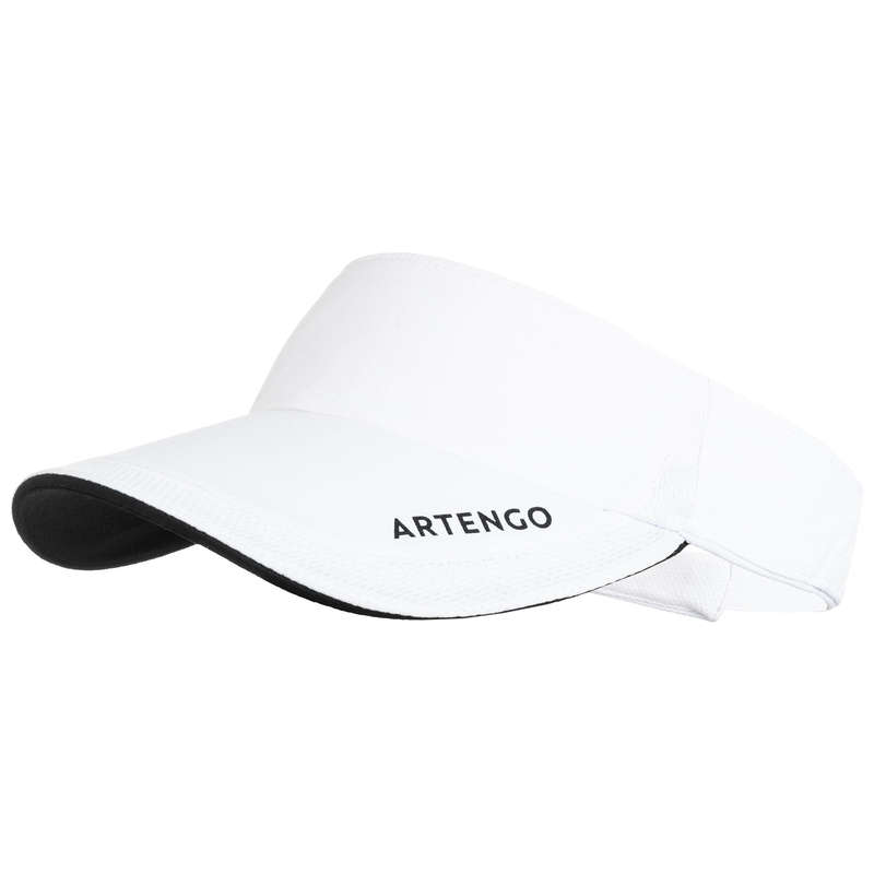 APPAREL ACCESSORIES - TV 100 Tennis Visor - White ARTENGO