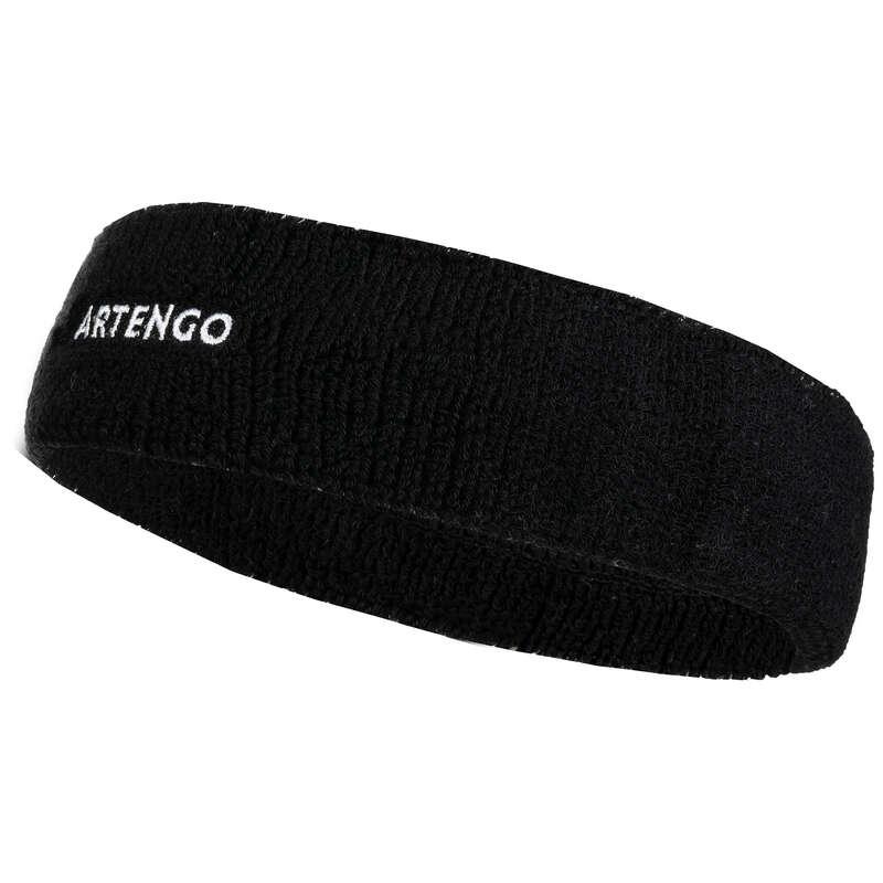 APPAREL ACCESSORIES Badminton - TB 100 Tennis Headband - Black ARTENGO - Badminton Clothing