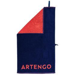 Handdoek voor tennis TS 100 indigoblauw/roze