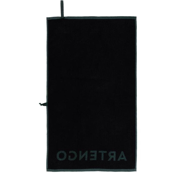 球拍運動毛巾TS 100-卡其色/黑色