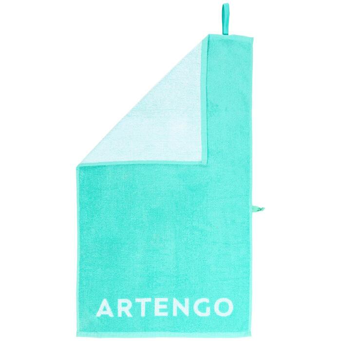 Handdoek voor racketsporten Artengo TS 100 turquoise wit
