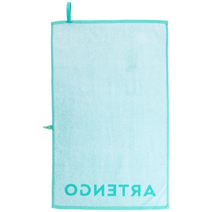球拍運動毛巾TS 100-淺碧藍色/白色