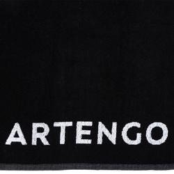 Handdoek Artengo racketsport TS 100 zwart/wit