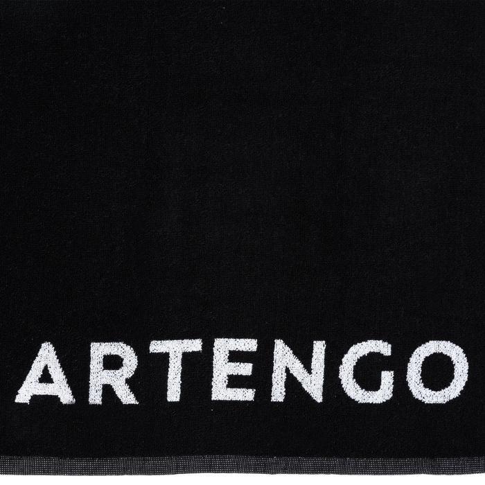 Handtuch TS 100 Tennis schwarz/weiß