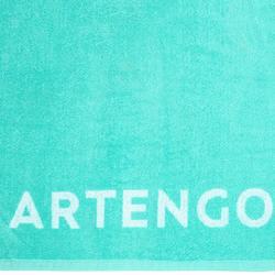 網球毛巾TS 100 - 藍綠色配白色
