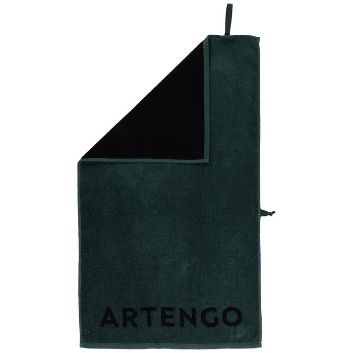 Handdoek voor racketsporten Artengo TS 100 kaki zwart