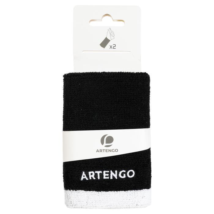 Schweißband Tennis Handgelenk lang schwarz/weiß