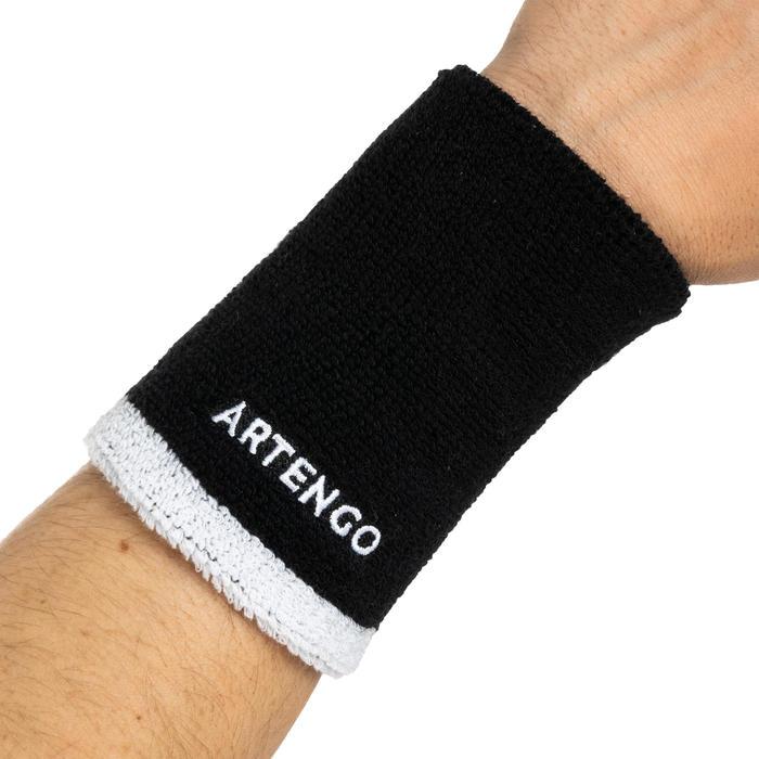 Polsband voor tennis TP 100 XL zwart/wit