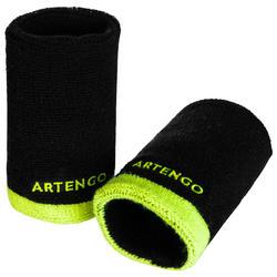 網球護腕TP 100 XL-黑色/黃色