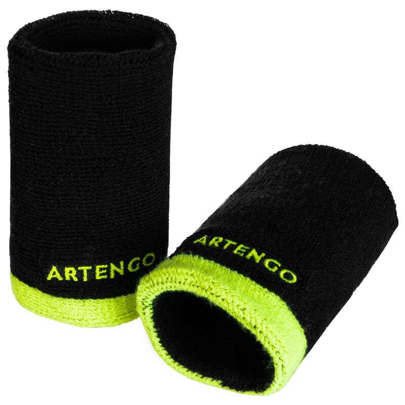 ACCESSORI ABBIGLIAMENTO SPORT DI RACCHET Sport di racchetta - Polsino TP 100 XL nero-giallo ARTENGO - Abbigliamento tennis