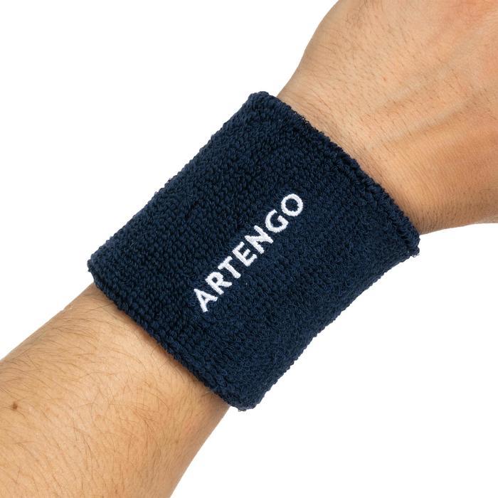 網球護腕TP 100-軍藍色