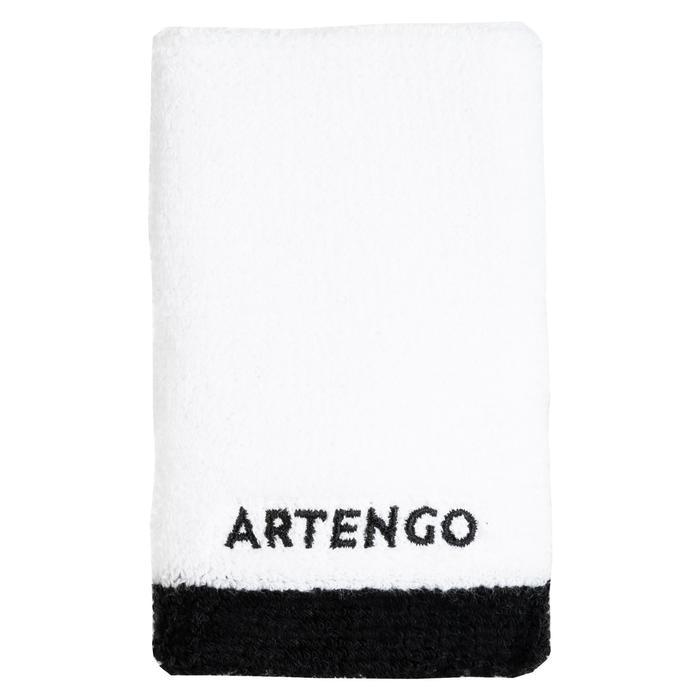 Schweißband Tennis Handgelenk lang weiß/schwarz