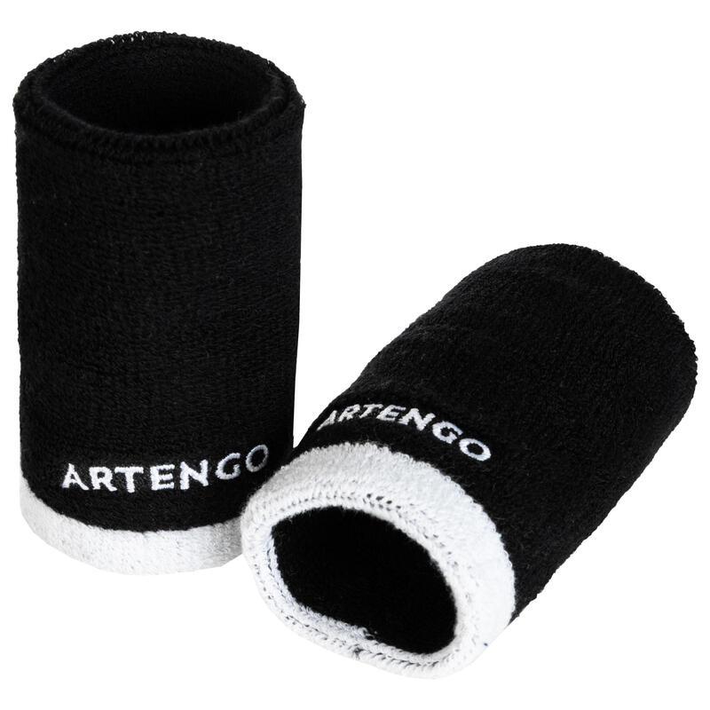 ปลอกรัดข้อมือเทนนิสรุ่น TP 100 ขนาด XL (สีดำ/ขาว)