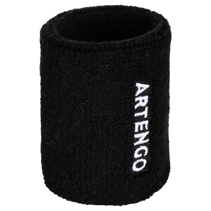 Absorberende polsband voor tennis, zwart