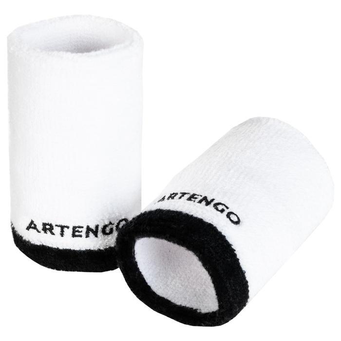 網球護腕TP 100 XL-白色/黑色