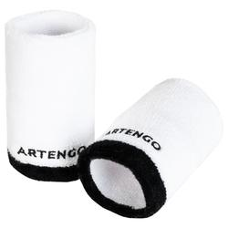 Tennis Absorbent Extra Long Wristband - White/Black