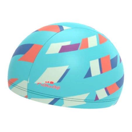 Gorro de natación punto estampado L Typ azul