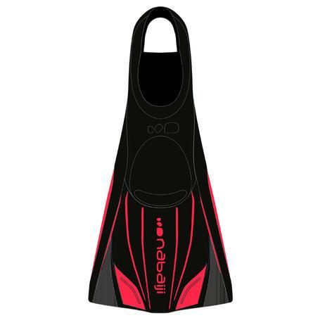 Bialetas Largas y Rígidas Natación Topfins 900 Negro Rojo