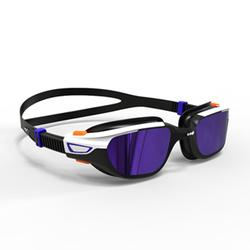 SWIMMING GOGGLES 500 SPIRIT SIZE L ORANGE BLUE MIRRORED LENSES