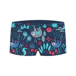 Zwemboxer Sloth voor jongens donkerblauw