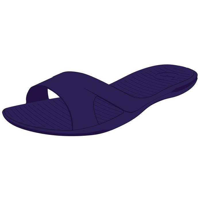 Badslippers zwembad dames Slap 100 basic donkerblauw