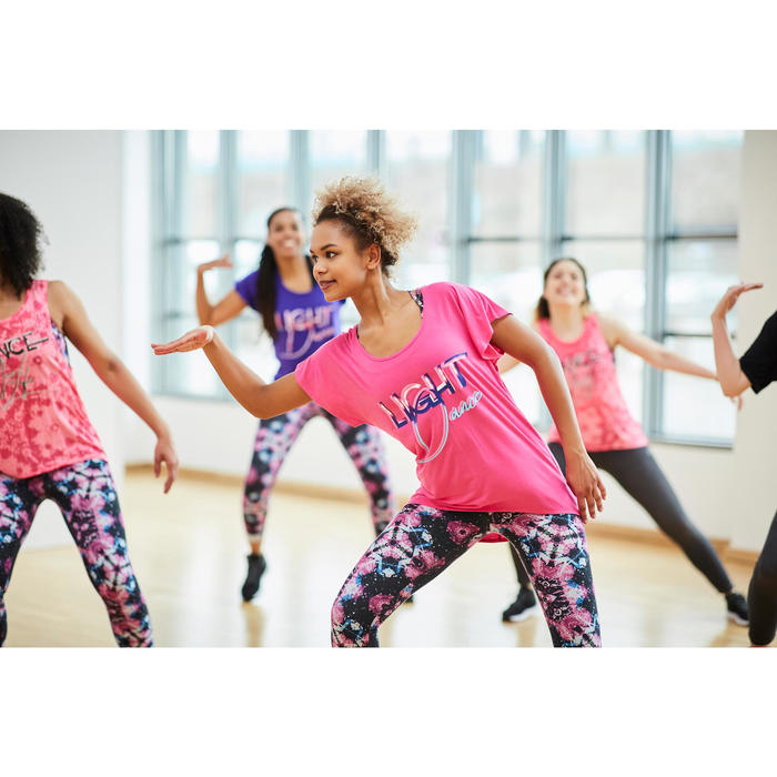 T-shirt manches courtes de danse femme fuchsia