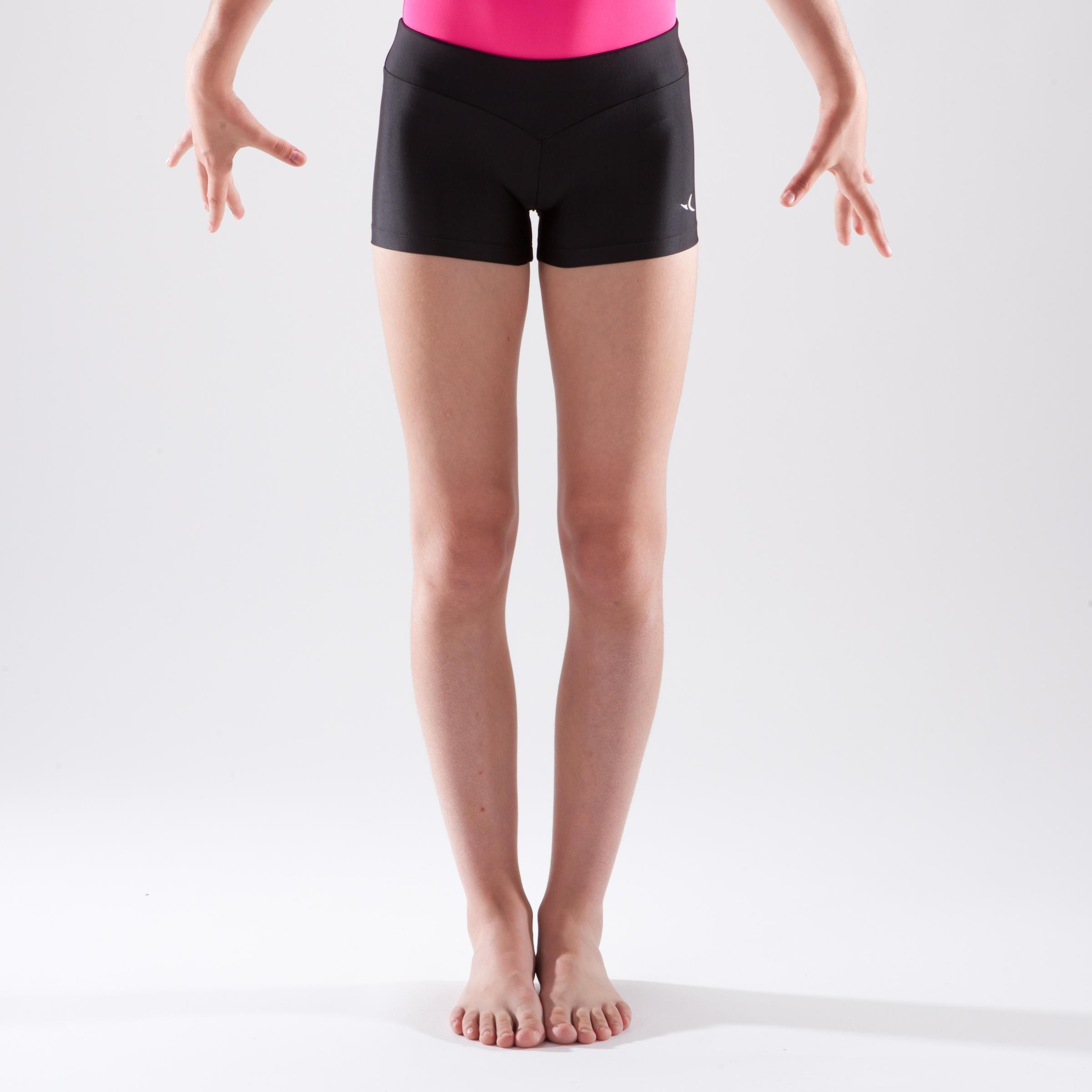 Girls' Artistic Gymnastics Shorts - Black