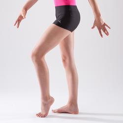 Short de gimnasia artística femenina negro
