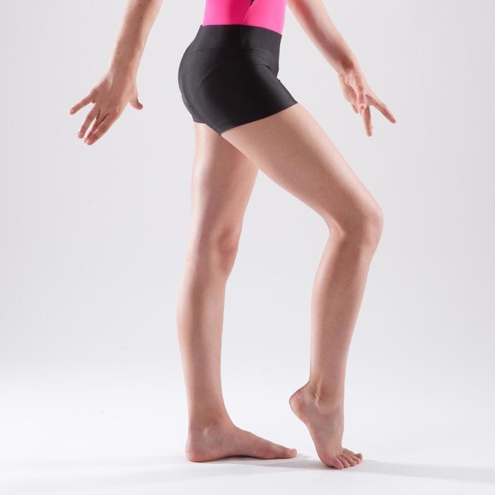 Short basique de gymnastique artistique féminine noir