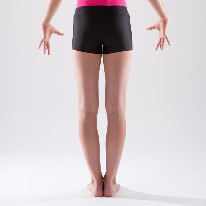 Short de gymnastique artistique féminine 100 noir