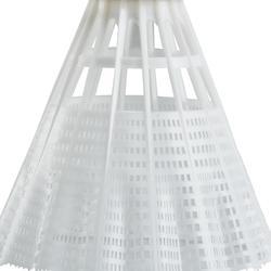 Badmintonshuttles in plastic Mavis 300 x 6 stuks wit