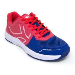 Padelschoenen PS190 voor dames Roze Blauw