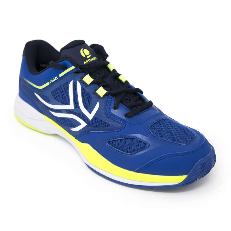 PADEL SHOES Other Racket Sports - PS 560 Shoes - Blue/Yellow ARTENGO - Other Racket Sports