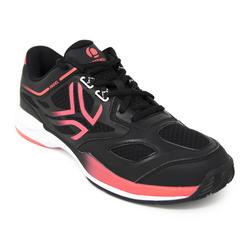 Padelschuhe PS 560 Sportschuhe Damen schwarz/rosa