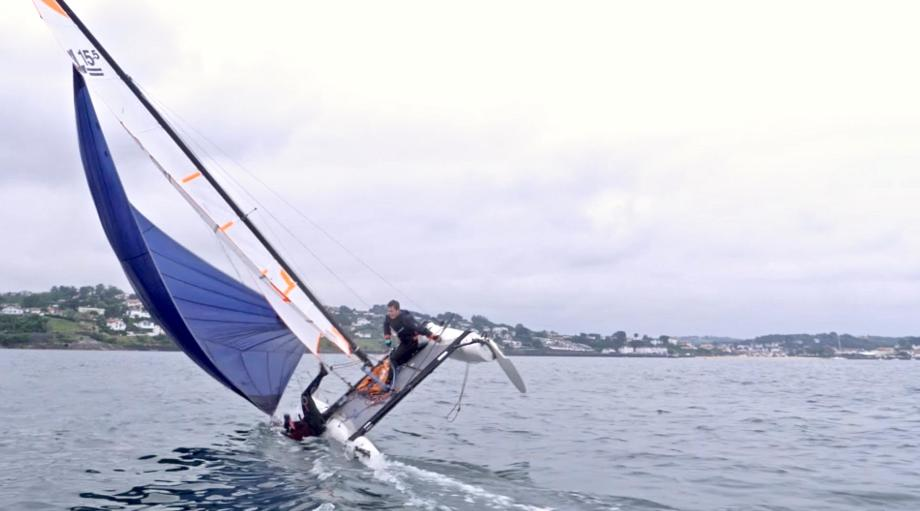 Capsizing on a catamaran