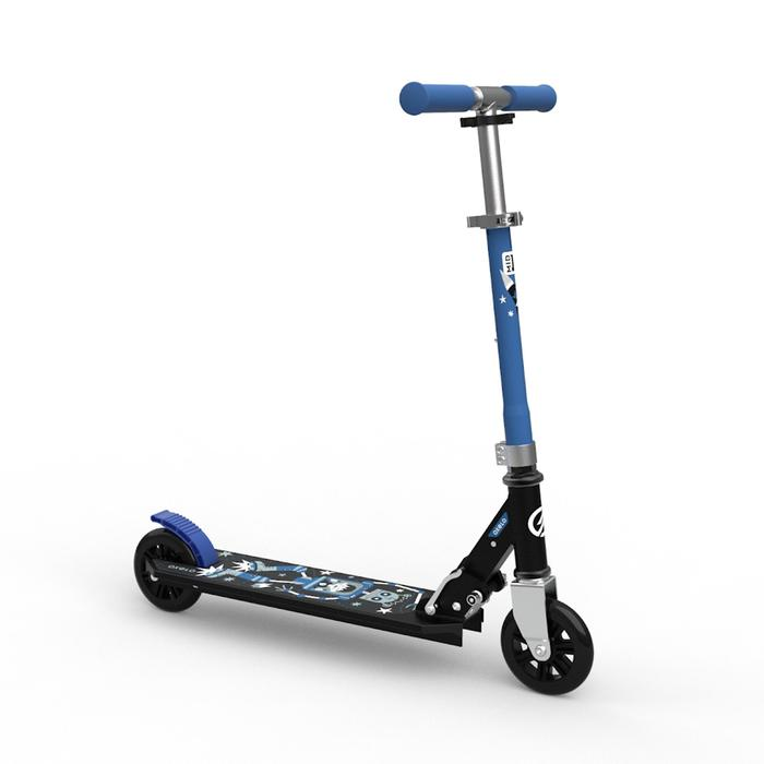 Kinder-Roller Scooter MID1 Roboter blau