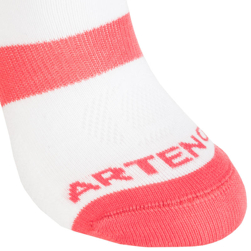RS 160 Kids' Low Sports Socks Tri-Pack - White/Pink
