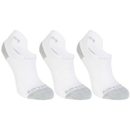 Tiga-Pak Kaus Kaki Olahraga Potongan Rendah RS 500 - Putih