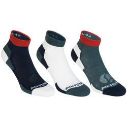 RS 160 Mid Sport Socks Tri-Pack - Grey/White/Red